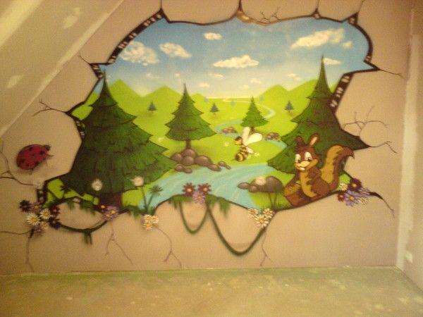 Graff tag deco chambre d enfant graffiti peinture for Peinture chambre d enfant